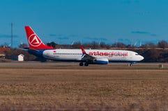 Boeing 737-800 de l'atlas turc de ligne aérienne global Photo libre de droits
