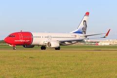 Boeing 737 de Norvégien Photos stock