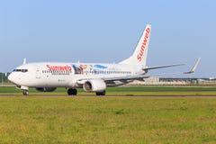 Boeing 737 de Sunweb Photographie stock