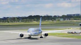 Boeing 787 Dreamliner almacen de metraje de vídeo