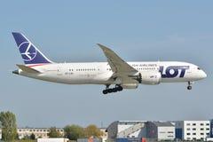 Boeing 787-8 Dreamliner Fotografering för Bildbyråer