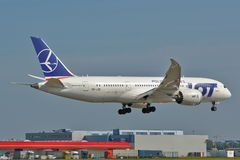 Boeing 787-8 Dreamliner Royaltyfria Foton