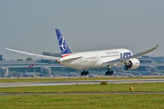 Boeing 787-8 Dreamliner Arkivbild