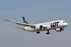 Boeing 787-8 Dreamliner Fotografia Stock Libera da Diritti