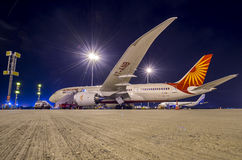 Boeing 787-8 Dreamliner Air India Arkivfoto