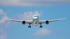 Boeing 787-9 Dreamliner. A Boeing 787-9 Dreamliner aircraft on final approach to Toronto Pearson International Airport YYZ royalty free stock photo