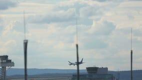Boeing 787 Dreamliner approaching stock video