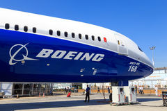 Boeing 787-10 Dreamliner. Boeing 787-10, the latest and longest Dreamliner, at the Paris Air Show, le Bourget stock photography