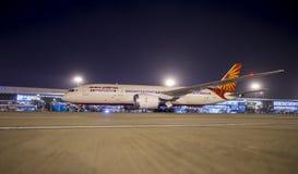 Boeing 787 dreamliner-Lucht India Stock Afbeelding