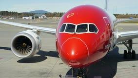 Boeing 787-8 Dreamliner. Norwegian Airlines - Oslo Gardermoen international airport. May 4. 2016 Stock Images