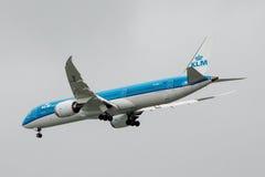 Boeing 787-9 Dreamliner in pieno Fotografie Stock
