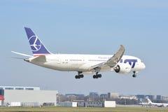 Boeing 787-8 Dreamliner sikt Arkivbild