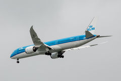 Boeing 787-9 Dreamliner voll Stockfotos
