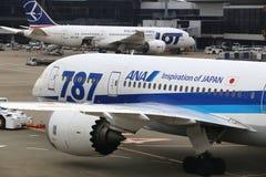 Boeing 787 Dreamliners Royaltyfri Bild