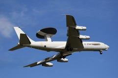 Boeing e-3 AWACS van de Schildwacht vliegtuig stock afbeelding