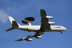 Boeing E-3 Sentry AWACS plane. Leeuwarden,Friesland,Holland-September 17: Boeing E-3 Sentry AWACS Plane makes flyby at the Airshow on september 17, 2011 at Stock Image