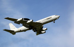 "Boeing E-3 Sentry AWACS Plane. LEEUWARDEN,FRIESLAND,HOLLAND-SEPTEMBER 17: Boeing E-3 Sentry AWACS Plane makes flyby at the ""Luchtmachtdagen"" Airshow on Stock Photography"