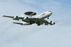 Boeing E-3 Sentry AWACS Plane. At the Luchtmachtdagen airshow at Leeuwarden Airfield in 2011 Royalty Free Stock Photo