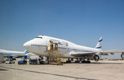 Boeing 747 4X-ELH — EL AL Israel Airlines airplane in Ben-Gu Stock Images