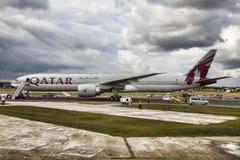 Boeing 777 em Farnborough Imagens de Stock Royalty Free