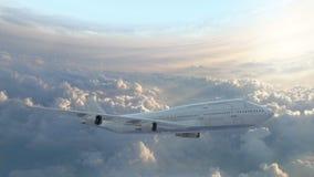 Boeing 747 en el cielo almacen de metraje de vídeo