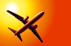 Boeing en zonsondergang -  Royalty-vrije Illustratie