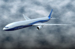 Boeing 777-300ER comercial aircraft Royalty Free Stock Photos