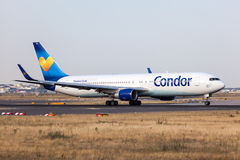 Boeing 767-300ER of the Condor airline Royalty Free Stock Photo