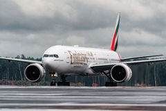 Boeing 777-200ER Emirates Airlines Stock Images