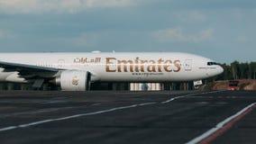 Boeing 777-200ER emiratflygbolag Arkivbilder