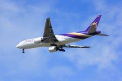 Boeing 777-200ER HS-TJS of Thaiairway. Royalty Free Stock Photo