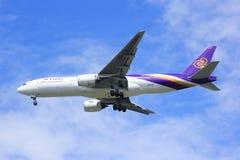 Boeing 777-200ER HS-TJS of Thaiairway. Royalty Free Stock Images