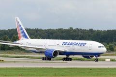 Boeing 777-200ER jet aircraft Stock Photos
