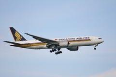 Boeing 777 landing Stock Image