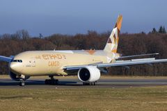 Boeing 777 from Ethiad Stock Photography
