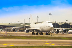 Boeing 747-2F6B του φορτίου MAS σε KLIA Στοκ εικόνα με δικαίωμα ελεύθερης χρήσης