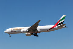 Boeing 777F cargo aircraft of the Emirates Airline Royalty Free Stock Images