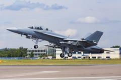 Boeing F/A-18E/F έξοχο Hornet Στοκ φωτογραφίες με δικαίωμα ελεύθερης χρήσης