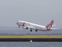 Boeing 737-8FE dziewica Australia (W) Obrazy Stock