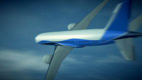 Boeing 787 flight 3d animation stock video footage