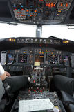 Boeing 737  flight deck Royalty Free Stock Photo