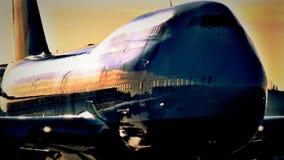 Boeing 747 flygplan Royaltyfri Bild