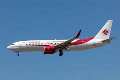 Boeing 737-800 flygplan av Airet Algerie Fotografering för Bildbyråer