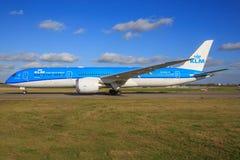 Boeing 787 från KLM Arkivfoton