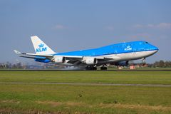 Boeing 747 från KLM Royaltyfria Bilder