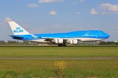 Boeing 747 från KLM Royaltyfri Foto