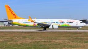 Boeing 737 från Pegasus Arkivfoto