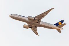 Boeing 777 Freighter of the Lufthansa Cargo Royalty Free Stock Image