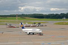 Boeing 737-300  Fulda. Lufthansa D-ABXP -  on delivery for the german airline Lufthansa Stock Image