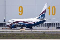 Boeing 737 genomgående underhåll Royaltyfria Bilder